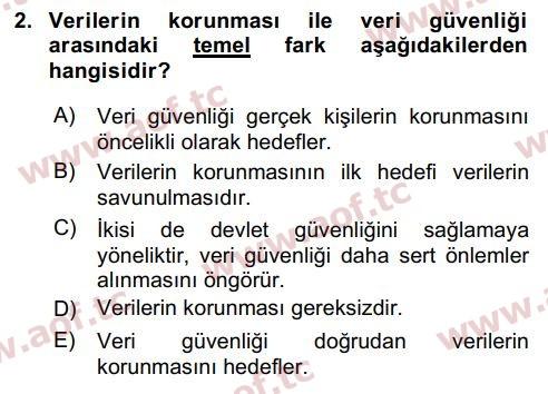 2018 Bilişim Hukuku Final 2. Çıkmış Sınav Sorusu