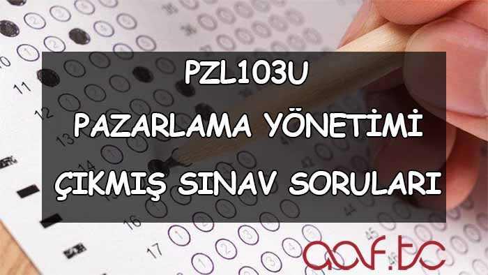 PZL103U Pazarlama Yönetimi Çıkmış Sınav Soruları