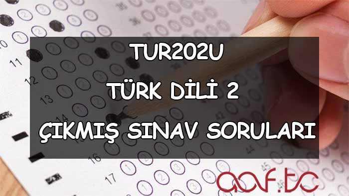 Türk Dili 2 Çıkmış Sınav Soruları