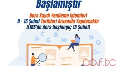 Atatürk Üniversitesi 2021 Bahar Dönemi Kayıt Yenileme İşlemleri