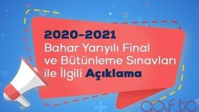 Atatürk Üniversitesi 2021 Bahar Dönemi Final Sınavları Online Yapılacak