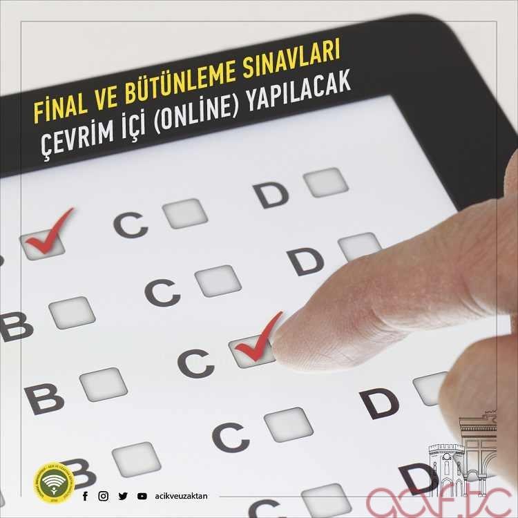 İstanbul AUZEF 2020 - 2021 Final ve Bütünleme Sınavları Online Yapılacak