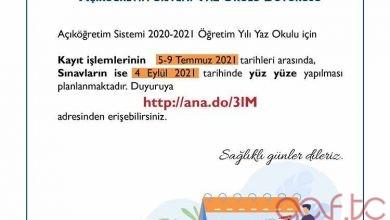2021 Yaz Okulu Kayıtları Başlıyor