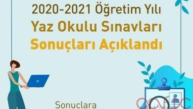 2021 Yaz Okulu Sonuçları